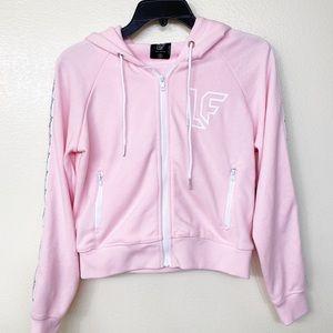 LF pink zip up